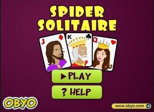 Карточная игра пасьянс паук